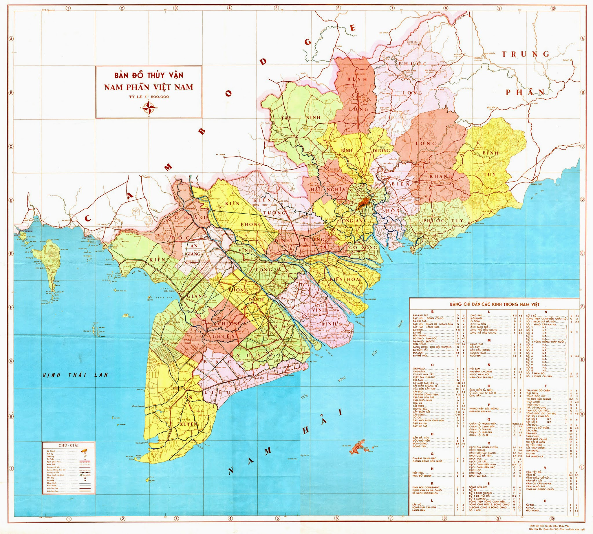 Bản đồ Vùng 3 Chiến thuật III – 1973
