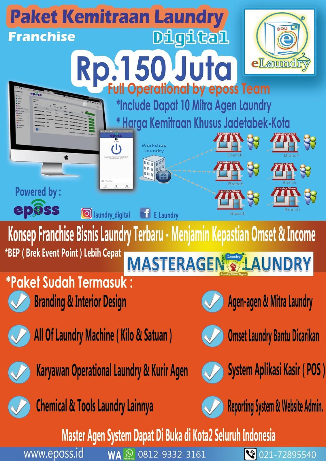 Peluang Bisnis : Aplikasi Kasir Laundry Online : Franchise ...