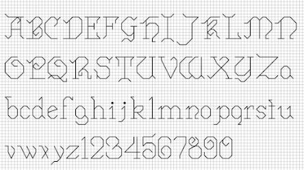 schema punto croce alfabeto e monogrammi a punto croce free