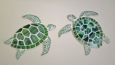 stained glass mosaic sea turtle art