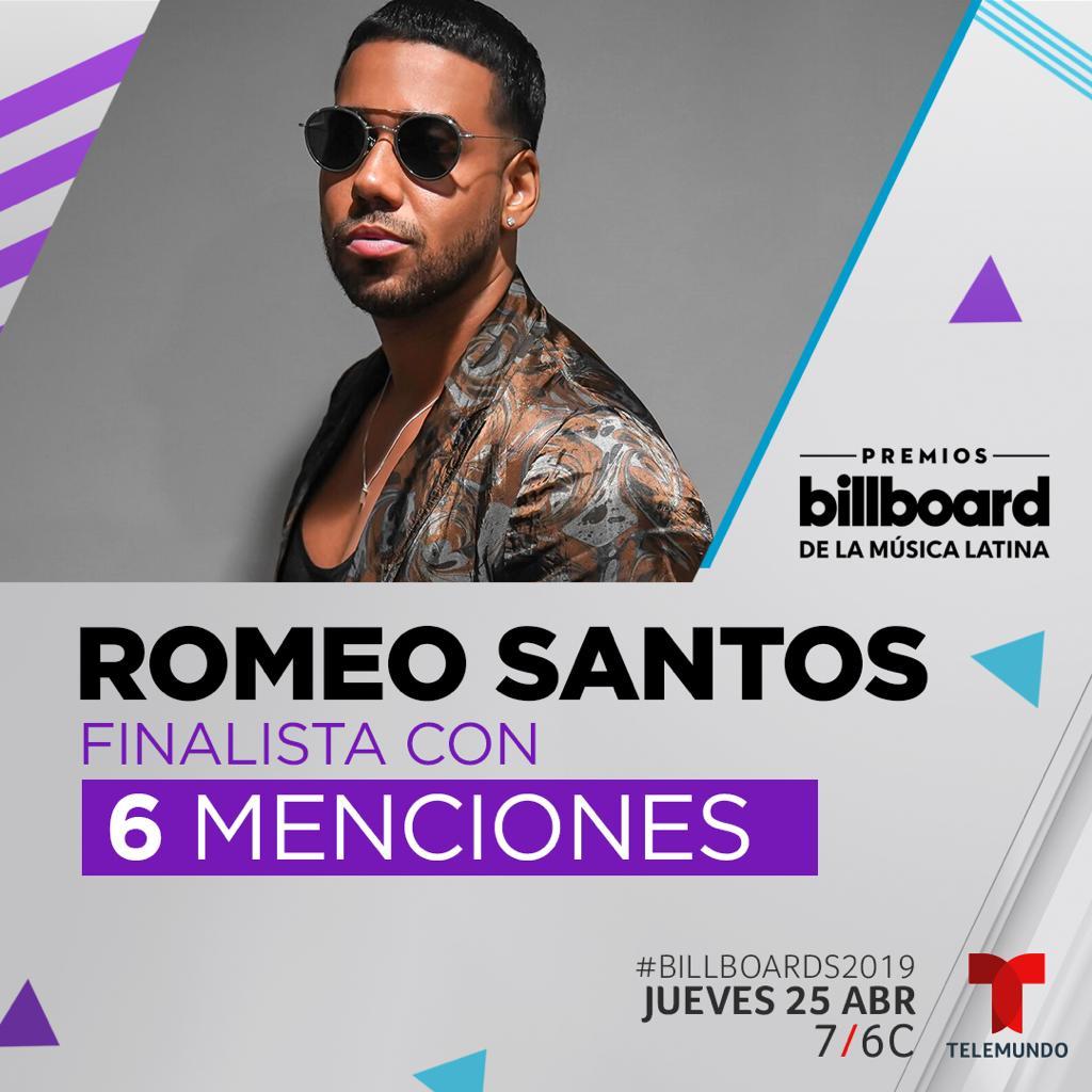 Romeo Santos Nominado A Seis Premios Billboard A La Música Latina