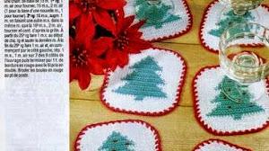 Posavaso de Navidad con diseño de pino