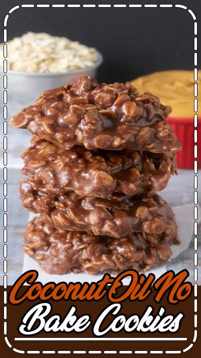 These Coconut Oil No Bake Cookies are the perfect combination of chocolate and peanut butter with a healthier side being gluten and dairy free.