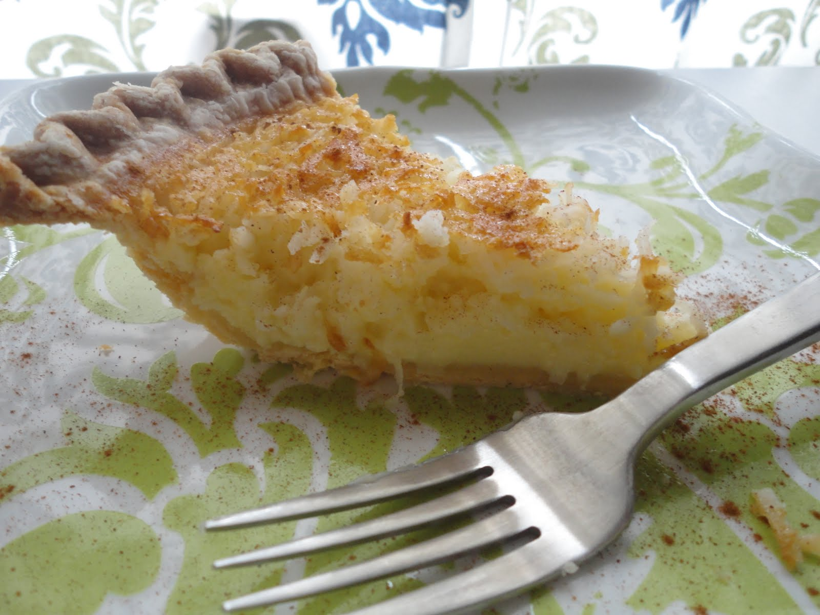 This Hungry Mama Bakes Paula Deen S French Coconut Pie