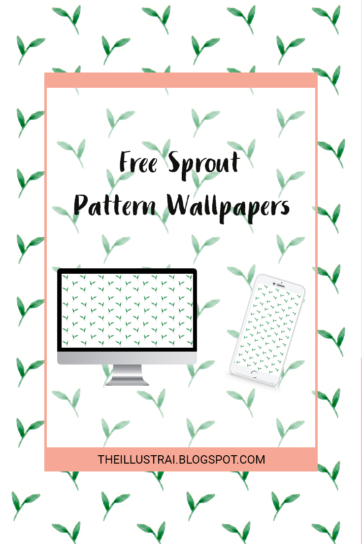 Download this free sprout pattern wallpaper for your desktop and mobile phone just in time for spring