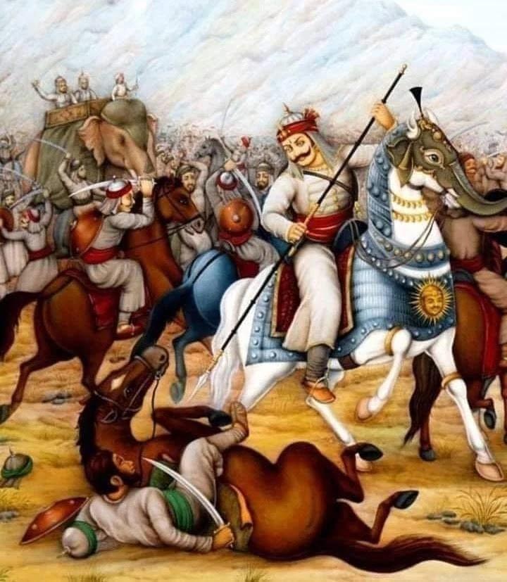 Maharana Pratap in Haldighati battle field