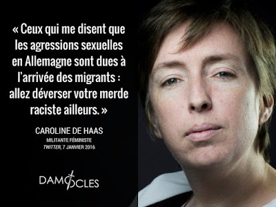 Caroline de Haas agressée : «va niquer ta mère, sale pute !»
