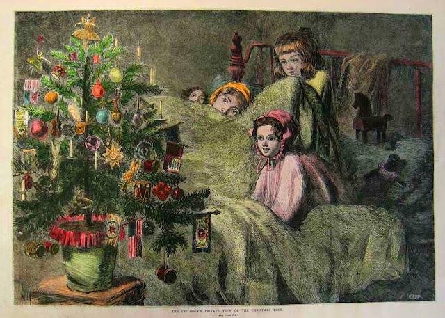 Το χριστουγεννιάτικο δέντρο σε μια παλιά εικονογράφηση / Vintage Christmas illustration