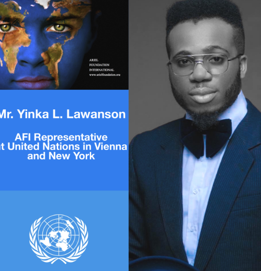 Singer Lamboginny Appointed As An AFI Representative At The United Nations In Vienna And New York