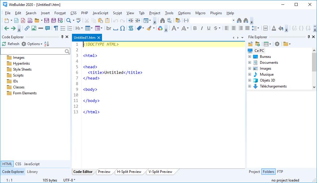 تحميل برنامج لإنشاء وتعديل وتحليل شفرة صفحة الويب Blumentals WeBuilder 2020