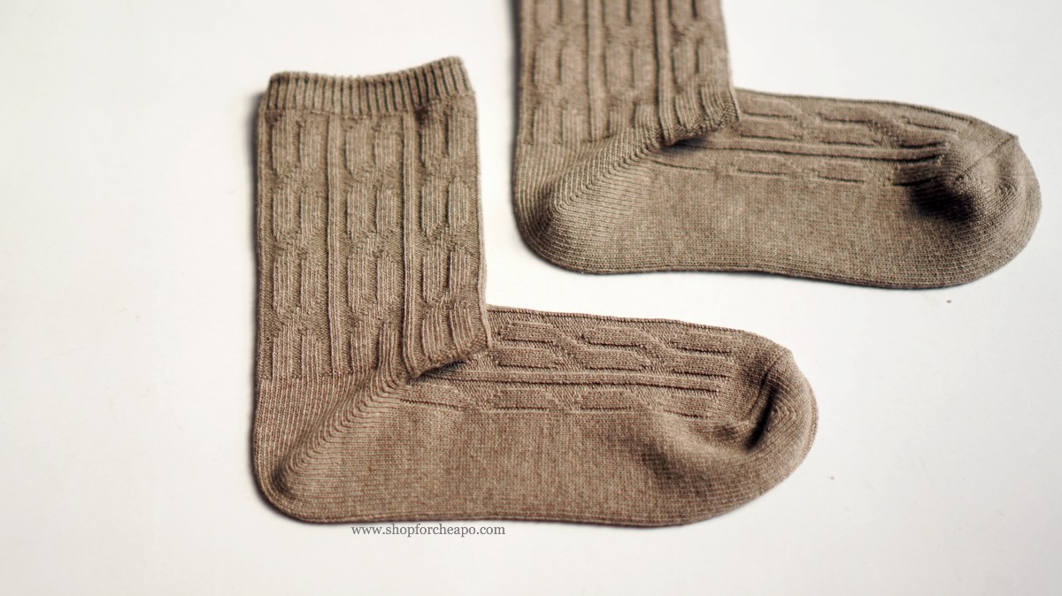 muji good fit right angle cable socks