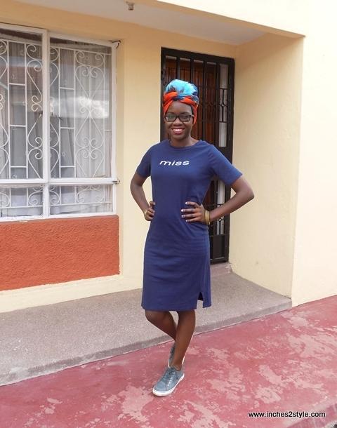 t-shirt dress sneakers turban audrey masitsa 4