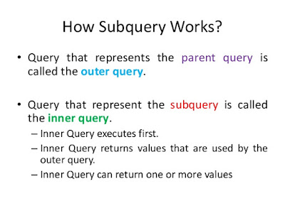 Difference between correlated and noncorrelated suquery