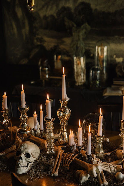 Decorative skull-wedding ideas-Halloween-Weddings by KMich-Philadelphia Centerpiece Idea