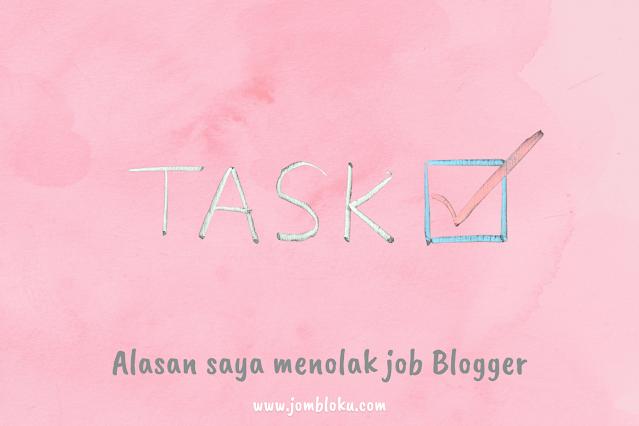 alasan menolak job blogger