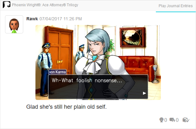 Phoenix Wright Ace Attorney Justice For All Franziska von Karma lobby after final case