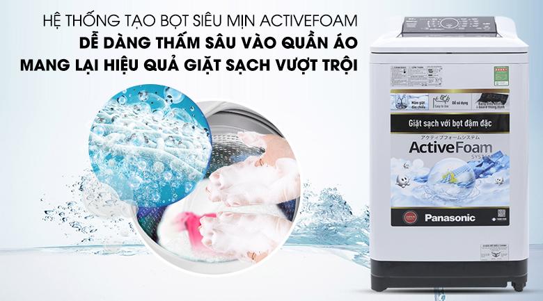 Hệ thống Active Foam - Máy giặt Panasonic 8.5 kg NA-F85A4GRV