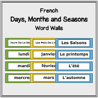 https://www.teacherspayteachers.com/Product/Jours-De-La-Semaine-French-Days-of-the-Week-Word-Wall-2720945