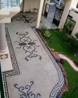 garden style-pasang batu sikat