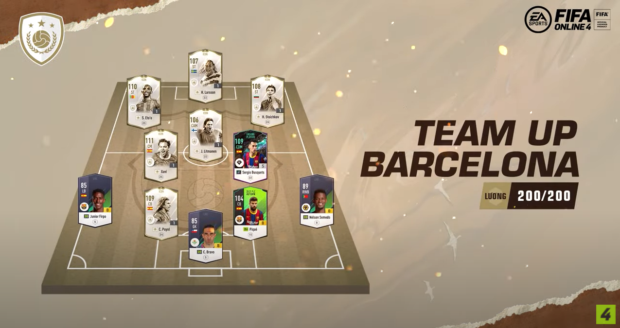 FIFA ONLINE 4 | Review Samuel Eto'o icons - Team UP Barcelona nỗi khiếp sợ của mọi hàng phòng ngự