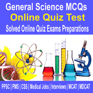 Online Solved General Science Objective Type Quiz Test