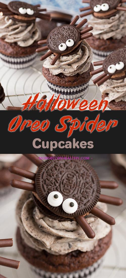 Halloween Oreo Spider Cupcakes