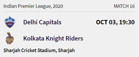 Kolkata Knight Riders match 4 ipl 2020