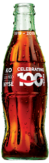 Commemorative Glass Coca-Cola Bottle 100 Years