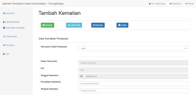 Aplikasi Kependudukan Desa Berbasis Web