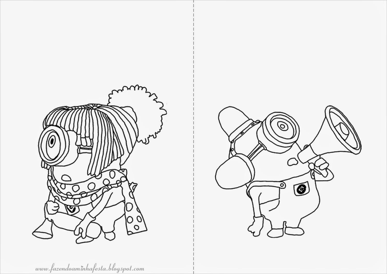 Os Minions - Desenhos Para Colorir - Colorir