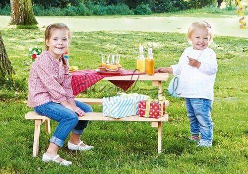 Kleine picknicktafel hout Pinolino