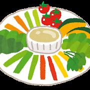 バーニャカウダーのイラスト(サラダ)