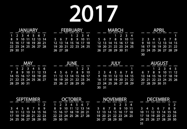 Calendario in inglese