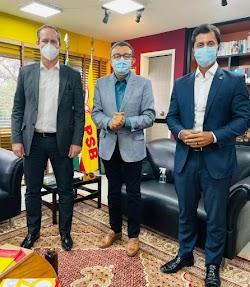 Duarte Júnior reúne em Brasília com o presidente nacional do PSB e sinaliza que seguirá a filiação de Flávio Dino no partido