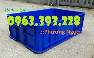 Thùng nhựa đặc HS003, thùng nhựa cao 19, thùng đặc chứa đồ 483c06505ca3befde7b2