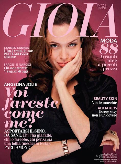 Jolie Magazine November 2017 Issue: Angelina Jolie On Cover Magazine Photoshoot For Gioia