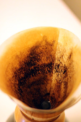 Paper filter after it was done with the extract.
