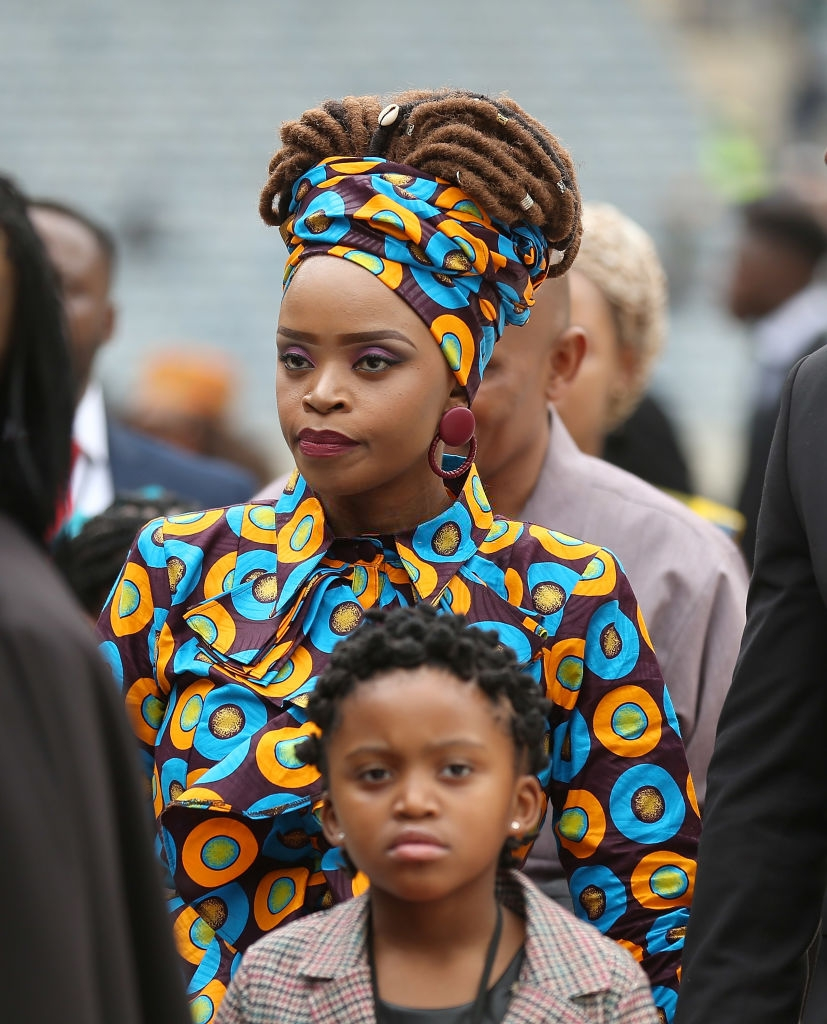 Zoleka Mandela attends the memorial service for Winnie Mandela at the Orlando Stadium on April 11, 2018 in Soweto, South Africa. (Photo by J. Countess/Getty Images)