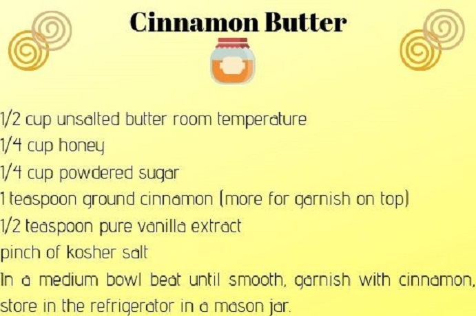 this is a recipe for whipped butter with cinnamon and copycat recipe from Texas Roadhouse