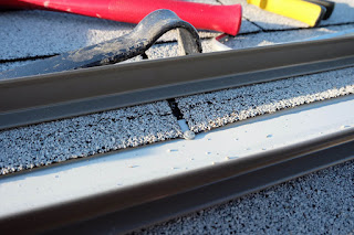galvanized roof nail tacking drip edge down