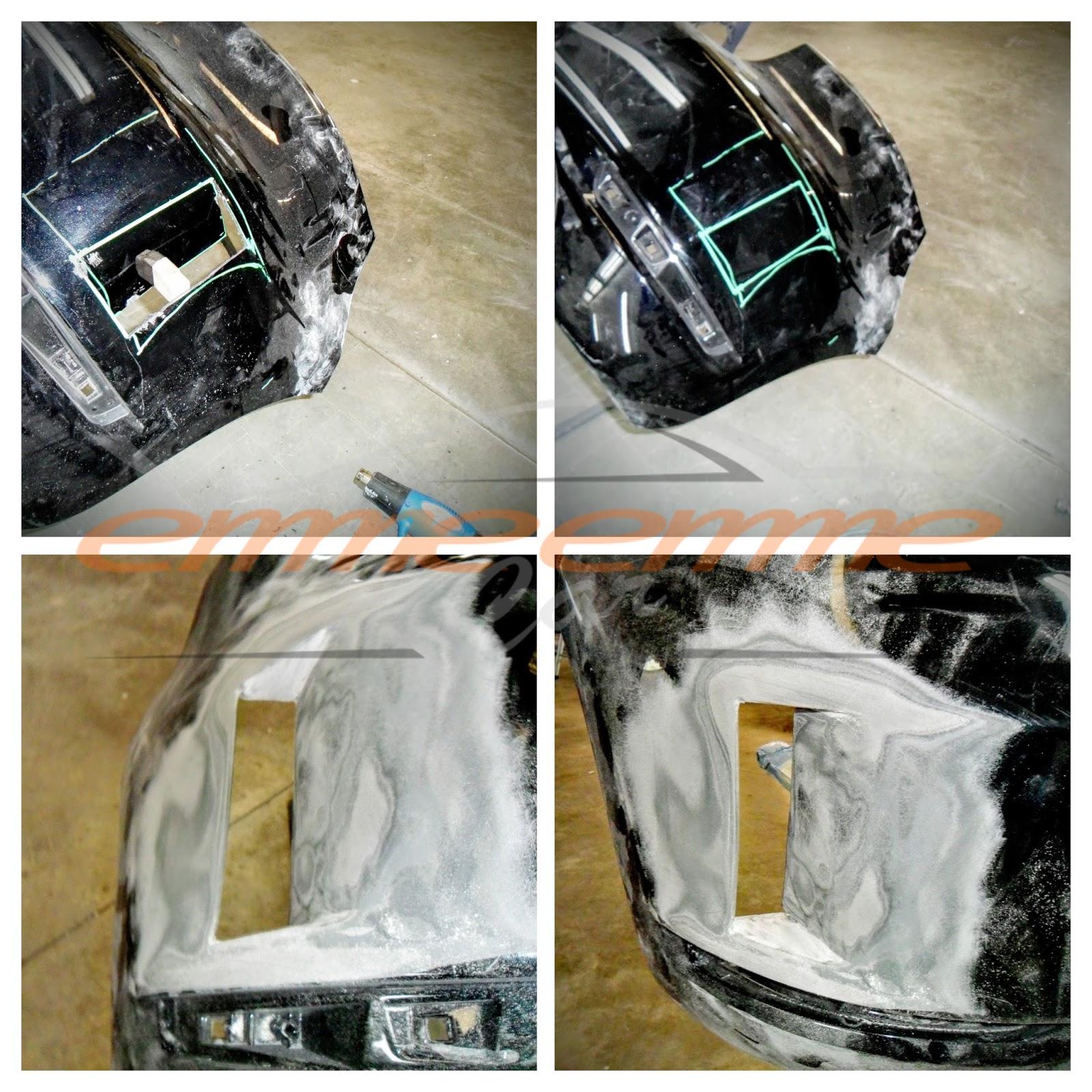 Modifica artigianale del paraurti posteriore - Emmeemme Car