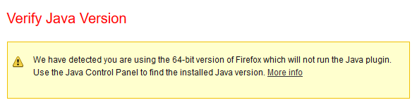 firefox_java not supported