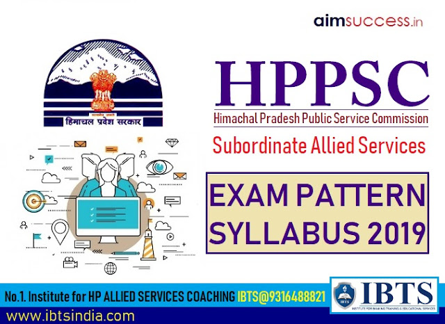 HPPSC Allied Services Exam Pattern and Syllabus 2019 (Excise & Taxation Inspector)