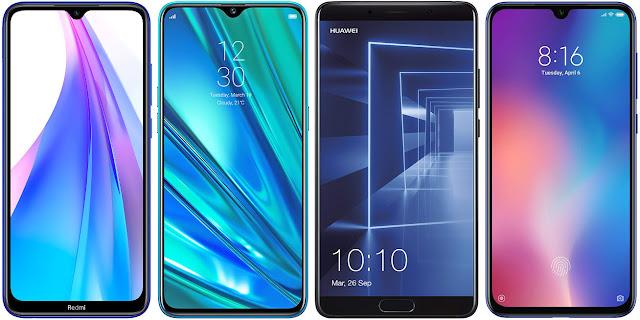 Redmi Note 8T vs Realme 5 Pro vs Huawei Mate 10 vs Xiaomi Mi 9 SE