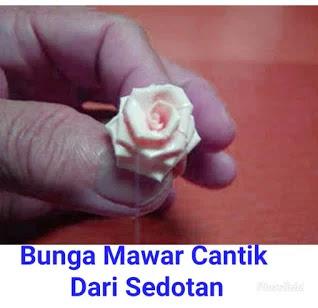 Gambar Bunga Mawar Dari Sedotan Yang Sudah Jadi