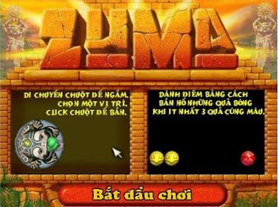 Chơi game kinh điển Zuma bắn bi