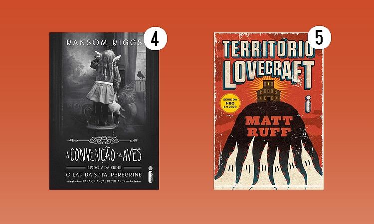 Editora Intrínseca;A Convenção das Aves - Ransom Riggs; Território Lovecraft - Matt Ruff
