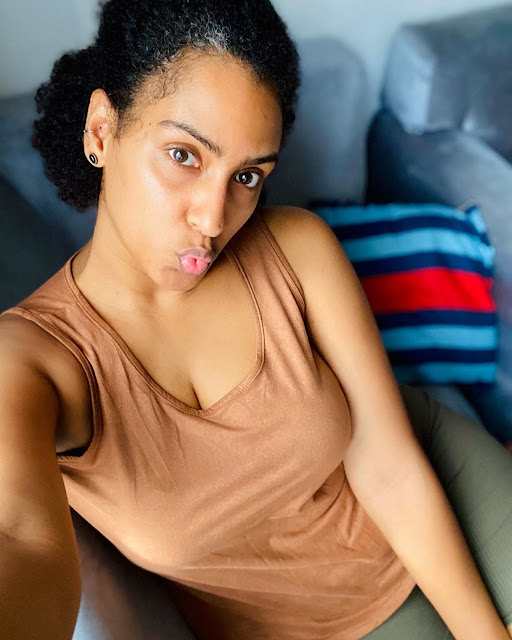 Juliet Ibrahim stuns in makeup free photo; shows off her grey hair