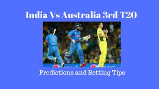 India Vs Australia 3rd T20 Predictions