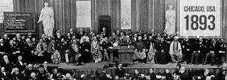 11th. September, 1893 World's Parliament of Religions- Swami Vivekananda's world famous speech.